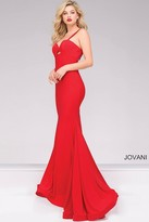 Jovani Jersey Sweetheart Neckline Fitted Prom Dress 49251