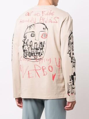 Charles Jeffrey Loverboy hand drawings print T-shirt