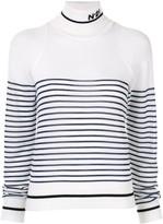 No.21 Breton stripe knitted jumper