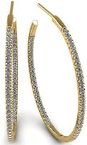 Ice 1 CT TW Diamond 14K Gold Three-Quarter Hoop Earrings
