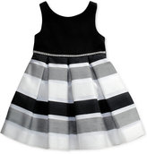 Sweet Heart Rose Black and White Dress, Toddler and Little Girls (2T-6X)
