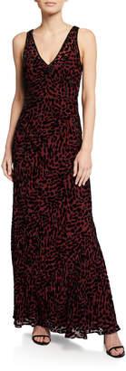 Diane von Furstenberg Clemine Sleeveless Leopard-Print Maxi Dress