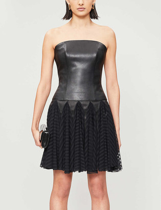 Jitrois Strapless leather bustier top