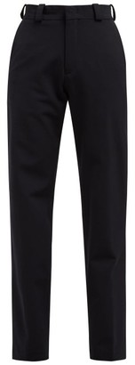 Vetements High-rise Twill Trousers - Womens - Navy