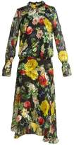 Preen by Thornton Bregazzi Camilla floral-print silk-blend devoré dress