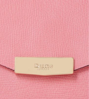 Dune Exie textured clutch bag