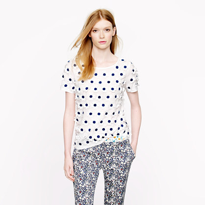 J.Crew Collection embroidered daisy top