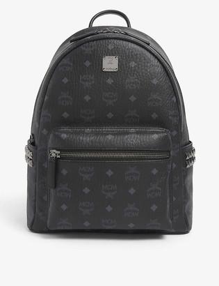 MCM Stark logo-print coated-canvas backpack