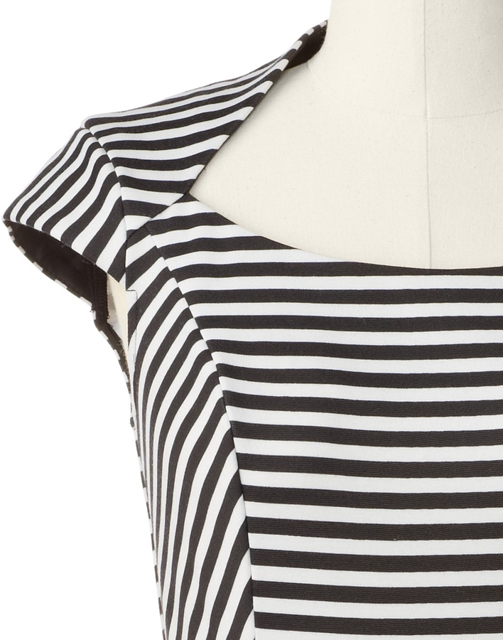 Coldwater Creek Stripe peplum ponte dress