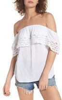 Socialite Women's Crochet Off The Shoulder Top