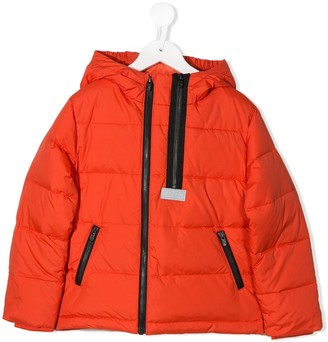 Kenzo Kids Asymmetric Zip Down Jacket