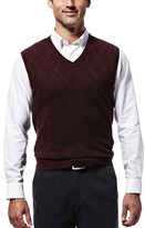 Haggar Diamond Textured Sweater Vest