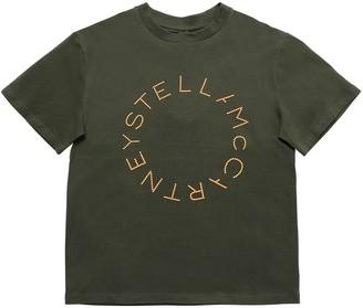 Stella Mccartney Kids Embossed Logo Organic Cotton T-shirt