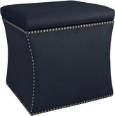 The Well Appointed House Nail Button Storage Ottoman in Mystere Eclipse