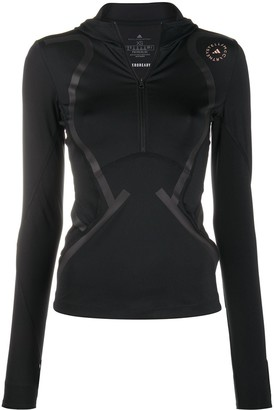 adidas by Stella McCartney Tape-Detail Hooded Training Top