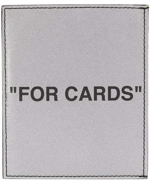 Off-White Off White silver quote cardholder
