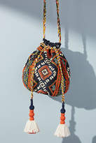 Anthropologie Catarina Beaded Mini Bucket Bag
