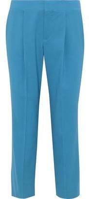 Chloé Cropped Wool-blend Straight-leg Pants