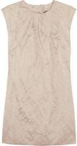 Miu Miu Crinkled duchesse-satin dress