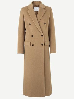 Samsoe & Samsoe Falcon Long Coat In Dull Gold - 12