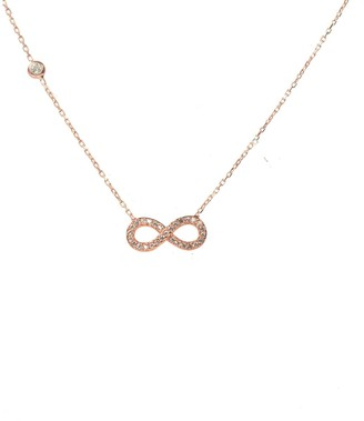 Latelita Eternity Infinity Necklace Rosegold