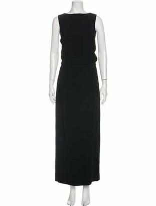 Givenchy Bateau Neckline Long Dress Black