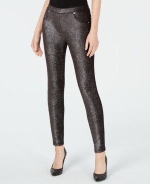 Michael Kors Michael Metallic Foil Pull-On Leggings, Regular & Petite