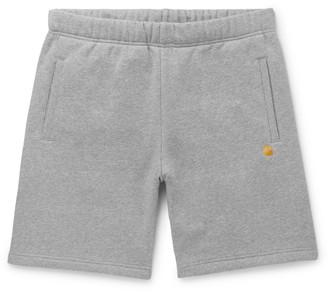 Carhartt Wip Chase Melange Fleece-Back Cotton-Blend Jersey Shorts