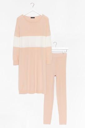 Nasty Gal Womens Knit's the Perfect Combination Legging Set - Beige - One Size
