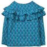 Crazy 8 Tile Print Ruffle Top
