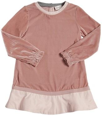 Moncler Nylon Detail Velvet Dress