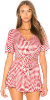 Show Me Your Mumu Tortuga Tie Top in Red. - size M (also in S,XS)
