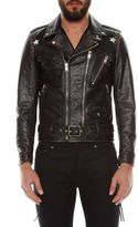 Saint Laurent 'etoile' Leather Motor Jacket
