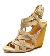 Madison Harding Veronique Women Open Toe Suede Wedge Sandal.