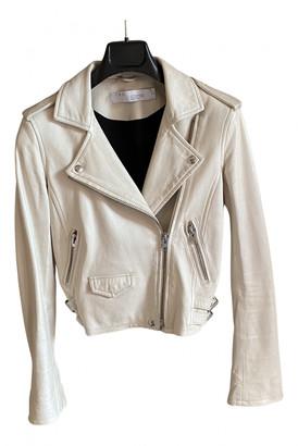 IRO Ecru Leather Jackets