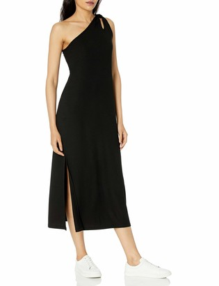 The Drop Women's Mickey Loose-Fit One-Shoulder Cutout Rib Knit Maxi Dress
