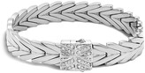 John Hardy Sterling Silver Modern Chain Bracelet with Diamonds