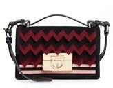 Salvatore Ferragamo 'Small Aileen' Leather Shoulder Bag - Red