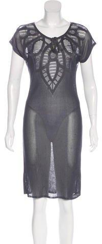 John Galliano Knit Midi Dress