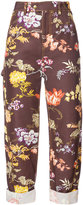 Rosie Assoulin floral embroidered trousers - women - Cotton/Viscose - 4