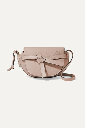 Loewe Gate Mini Textured-leather Shoulder Bag - Mushroom