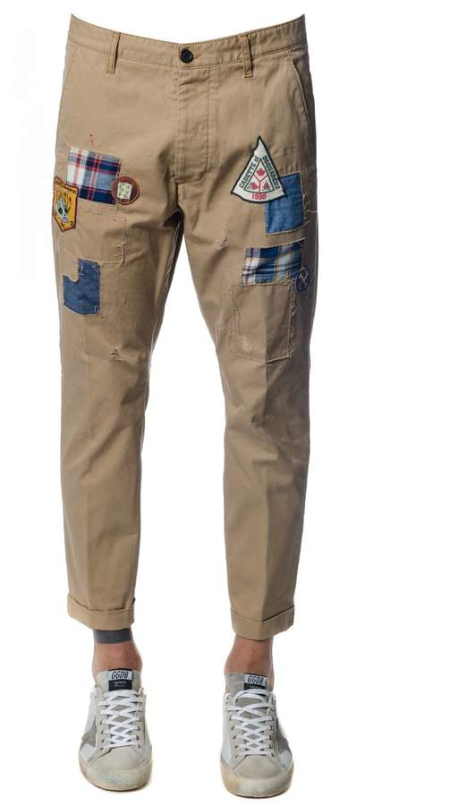 DSQUARED2 Scout Patch Hockney Cotton Pants