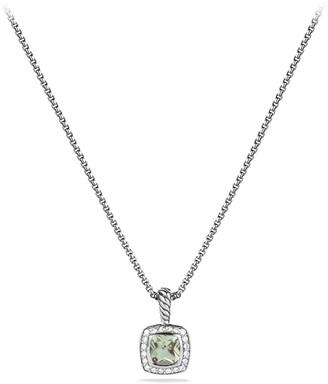 David Yurman Albion Petite Pendant with Prasiolite and Diamonds on Chain