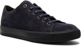 Lanvin Nubuck Low Top Sneakers