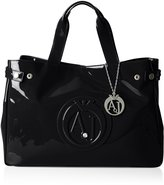 Armani Jeans Patent Crystal East West Tote