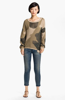 Zadig & Voltaire Camouflage Intarsia Knit Sweater Olive Militaire Small
