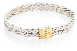 John Hardy Modern Chain 18K Yellow Gold & Sterling Silver Bracelet