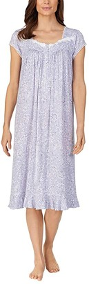 Eileen West Cap Sleeve Waltz Nightgown (Grey Floral) Women's Pajama