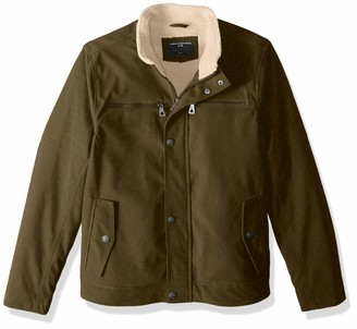 Urban Republic Men's Boys Trendy Pu Suede Jacket