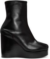 Maison Margiela Black Wedge Tabi Boots